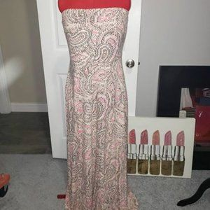 The Limited Paisley Maxi Dress Size: XL
